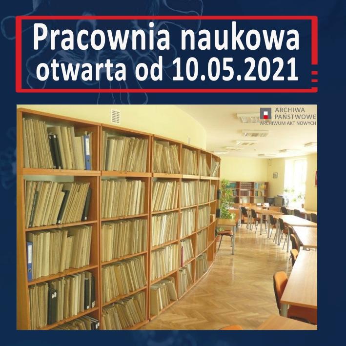 Pracownia naukowa - otwarta od 10.05.2021